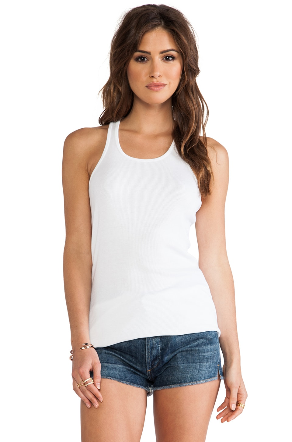 Splendid 2x1 Racer Back Tank in White