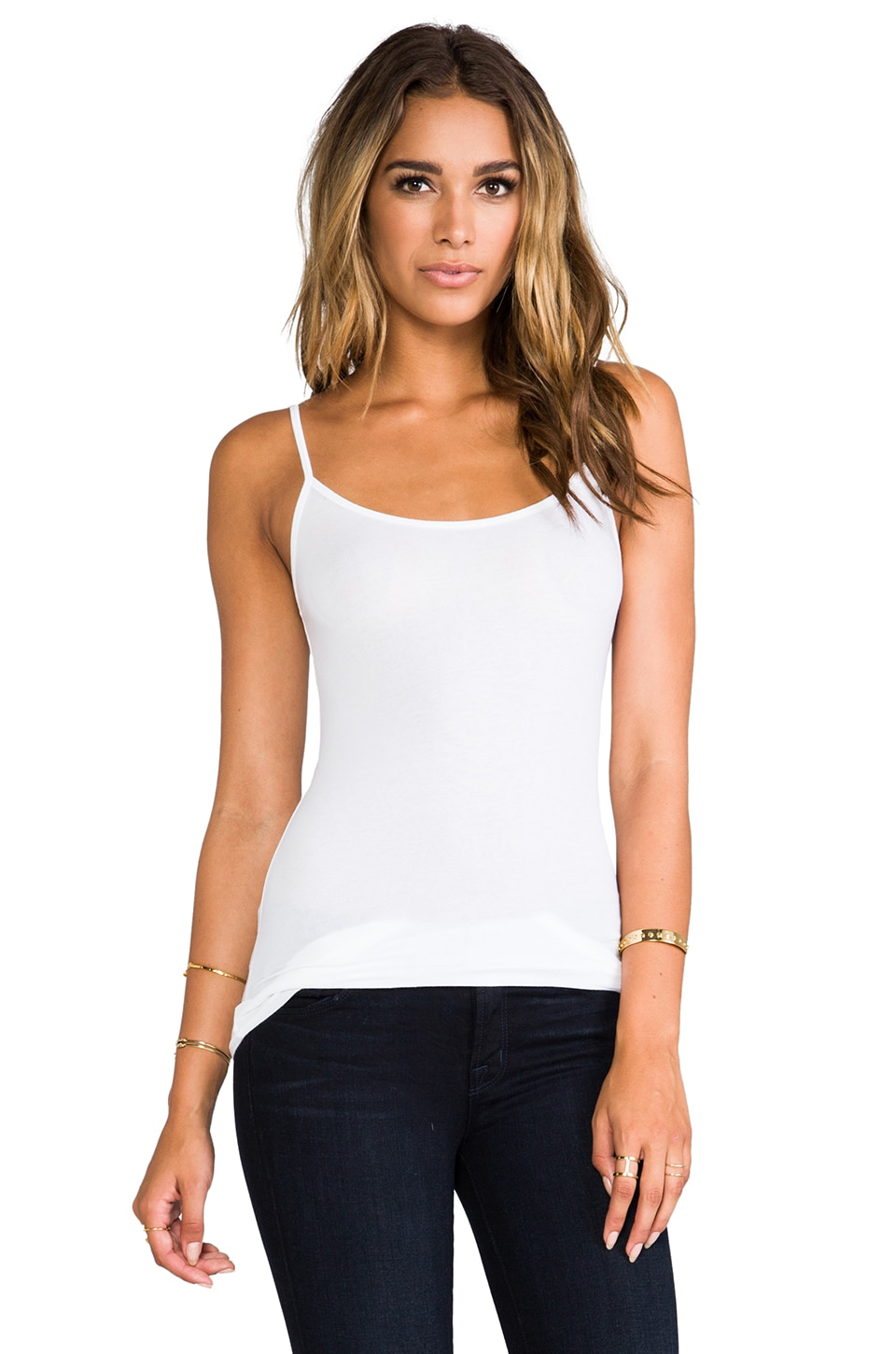 Splendid Layers Cami in White