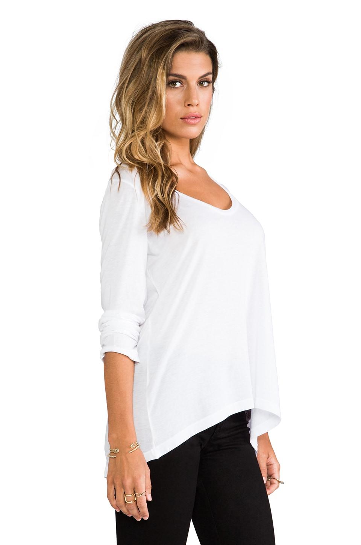 Splendid Very Light Jersey Long Sleeve Tee in White
