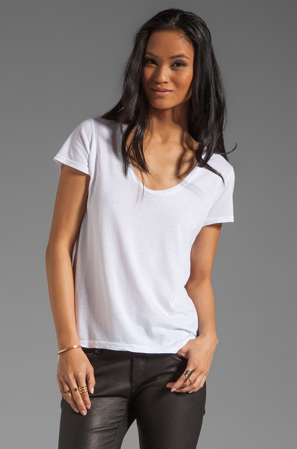 Splendid Very Light Jersey Tee in White