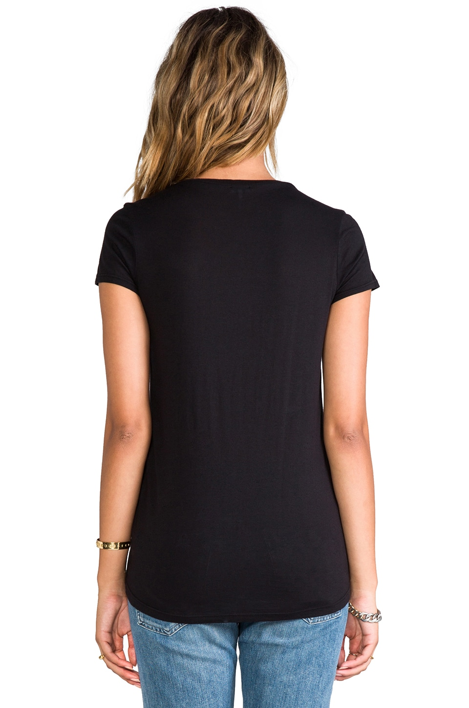 Splendid Very Light Jersey Tee in Black