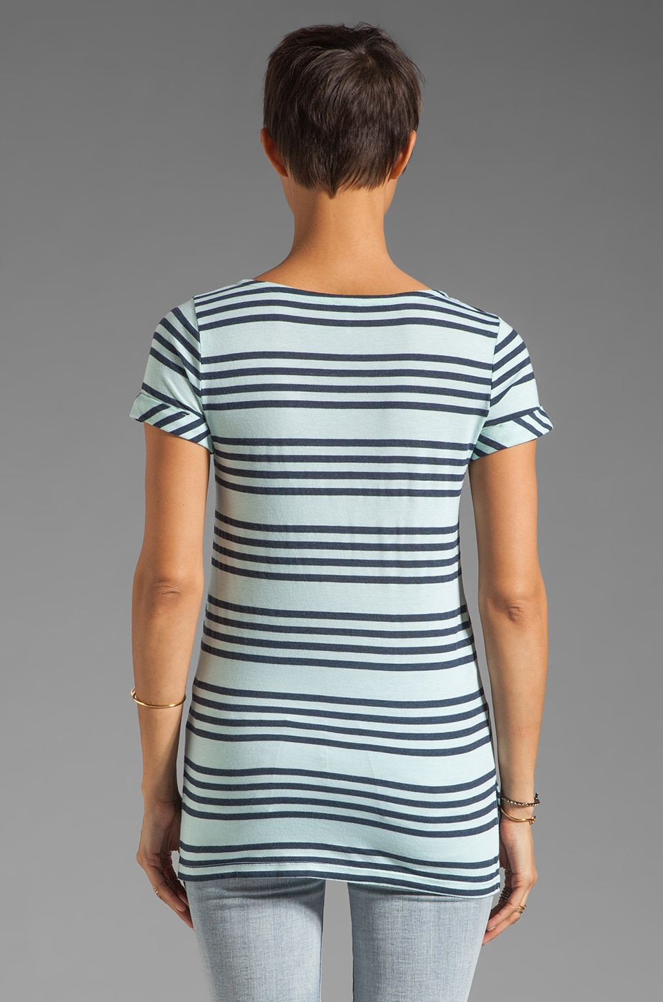 Splendid Capri Stripe Top in Julep