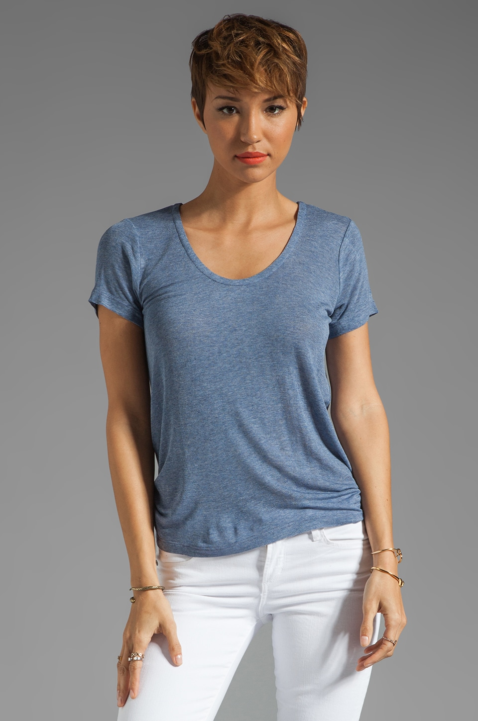 Splendid Drapey Lux Jersey in Chambray