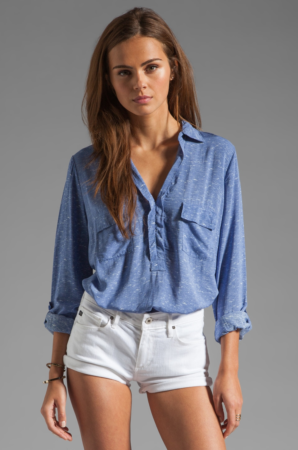 Splendid Heathered Shirting in French Blue