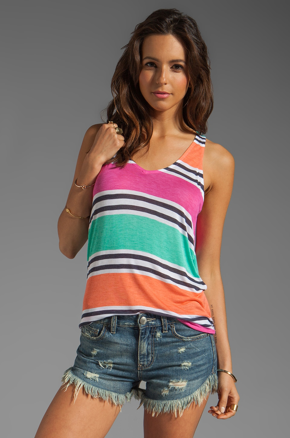 Splendid Cabana Stripe Tank in Parfait