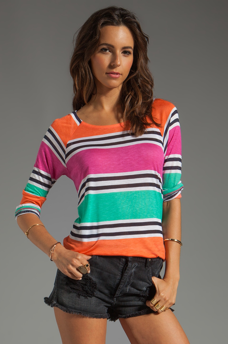 Splendid Cabana Stripe Top in Parfait
