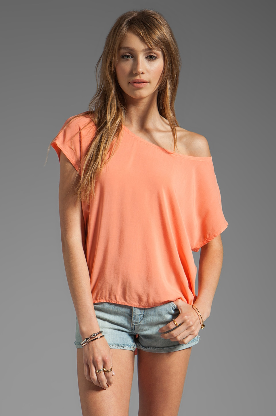 Splendid Shirting Tee in Apricot