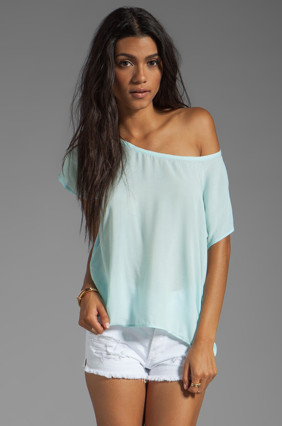 Splendid Shirting Top in Mint