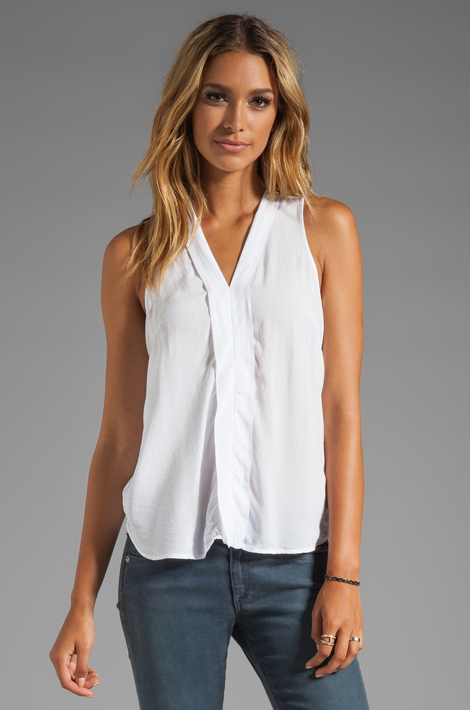 Splendid Shirting Tank in White