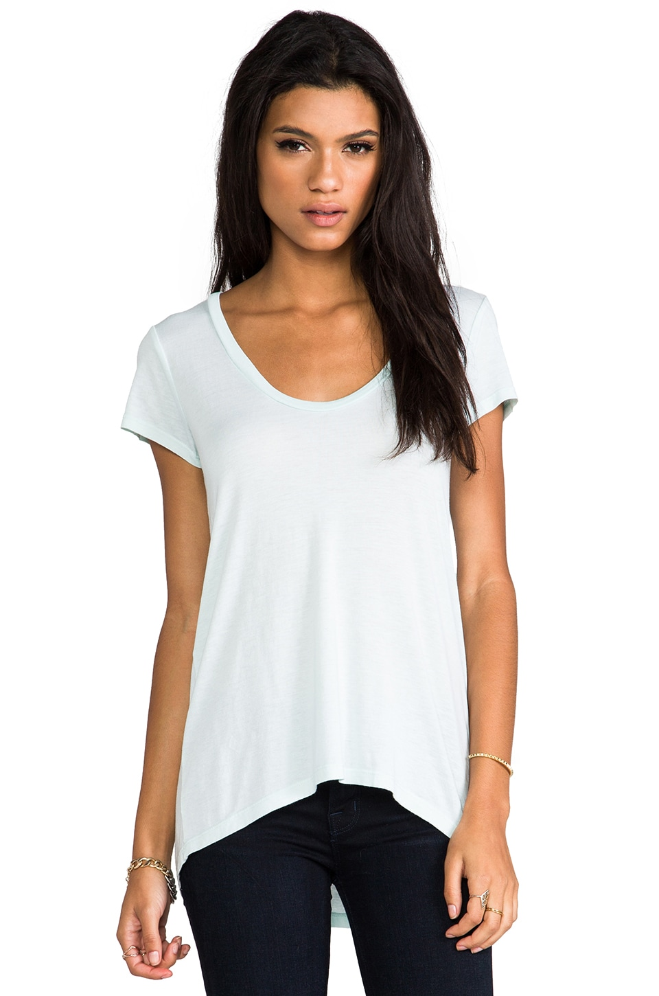 Splendid Light Jersey Short Sleeve Tee in Spearmint
