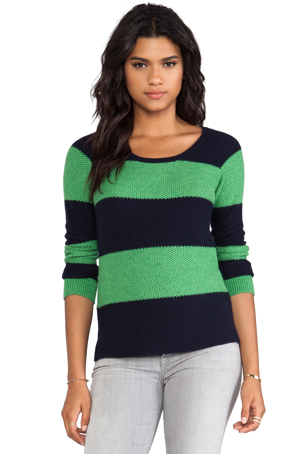 Splendid Honeycomb Sweater in Navy