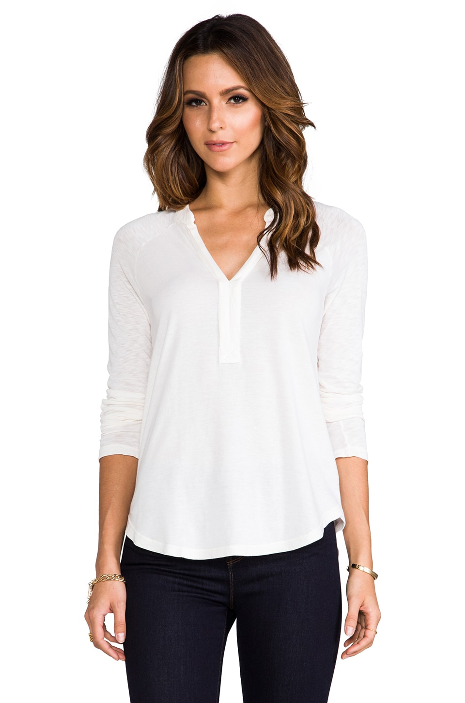 Splendid Very Light Jersey Top in Sand Dollar