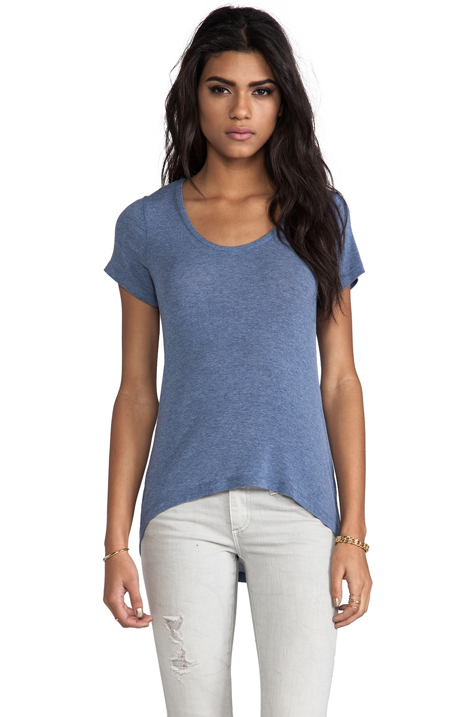 Splendid Drapey Lux Tee in Chambray