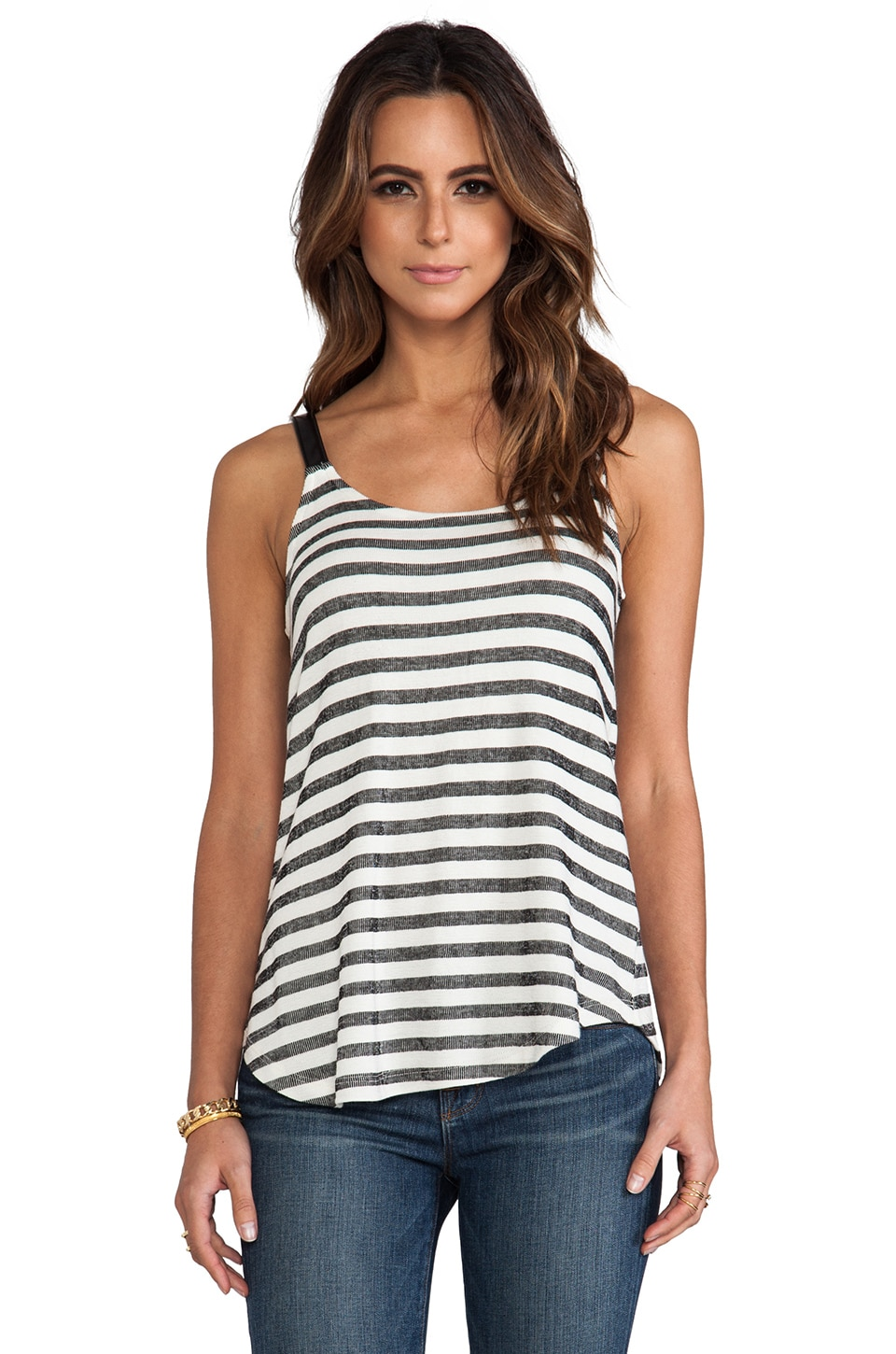 Splendid Cabrillo Stripe Tank in Black