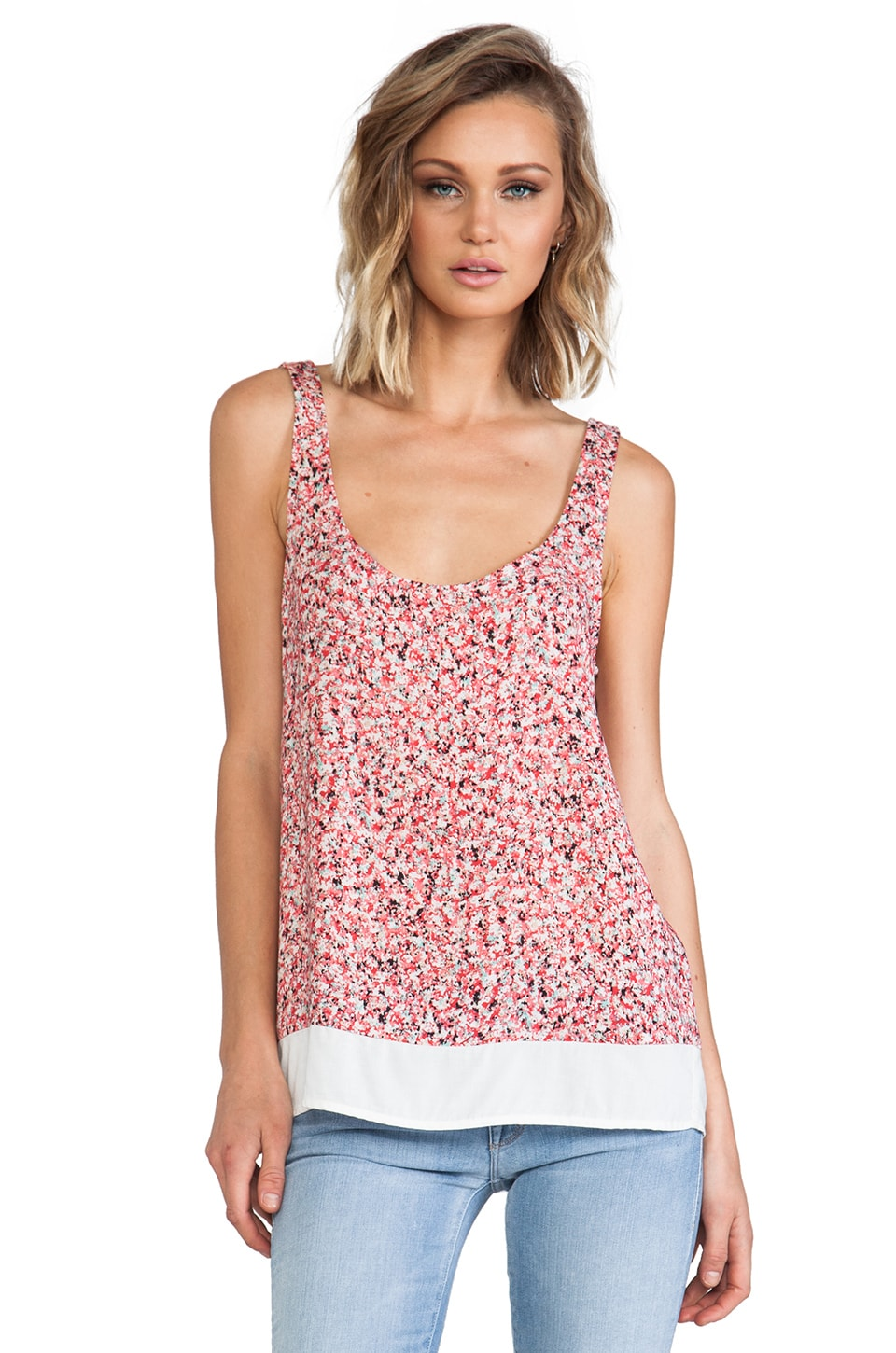 Splendid African Wildflower Tank in Coral Pink