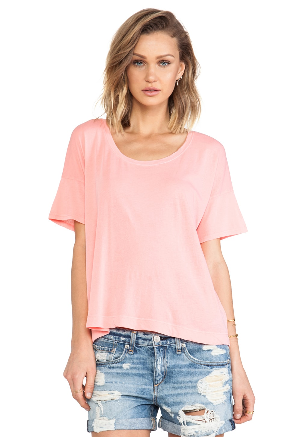 Splendid Vintage Whisper Tee in Watermelon