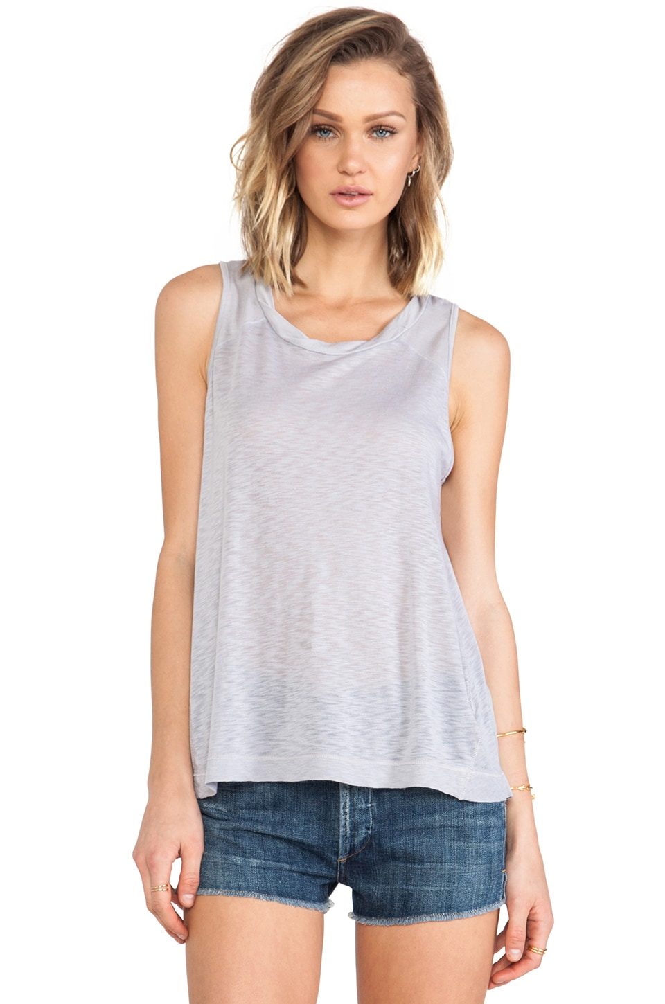 Splendid Slub Tank in Dove Grey