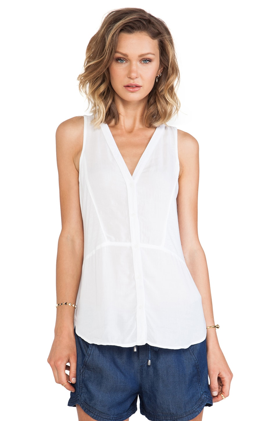 Splendid Always Shirting Tank in White