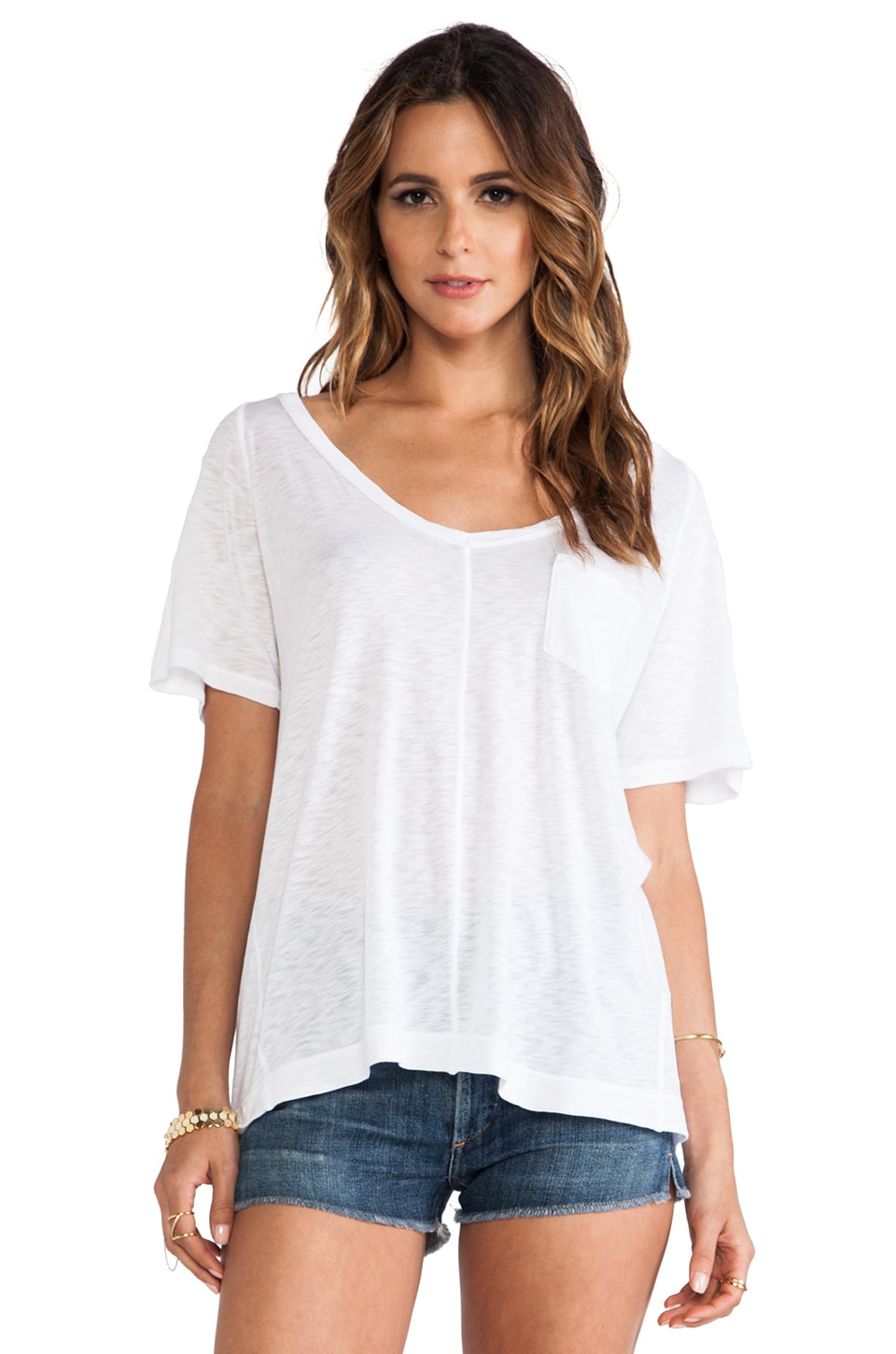 Splendid Slub Tee in White