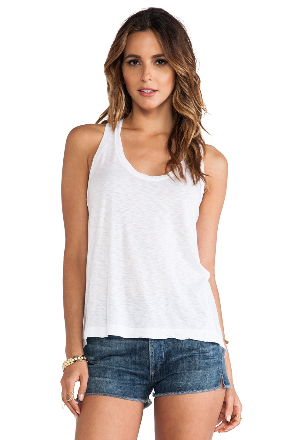 Splendid Slub Tank in White
