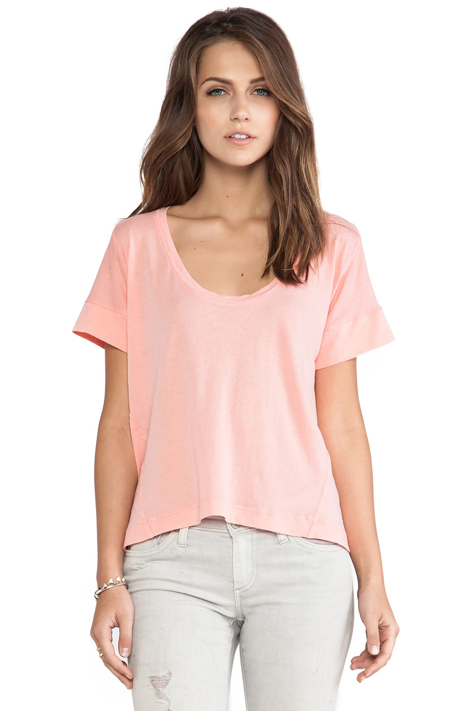 Splendid Vintage Whisper Top in Papaya Punch