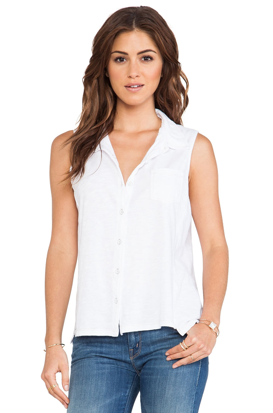 Splendid Indigo Dye Top in White Wash