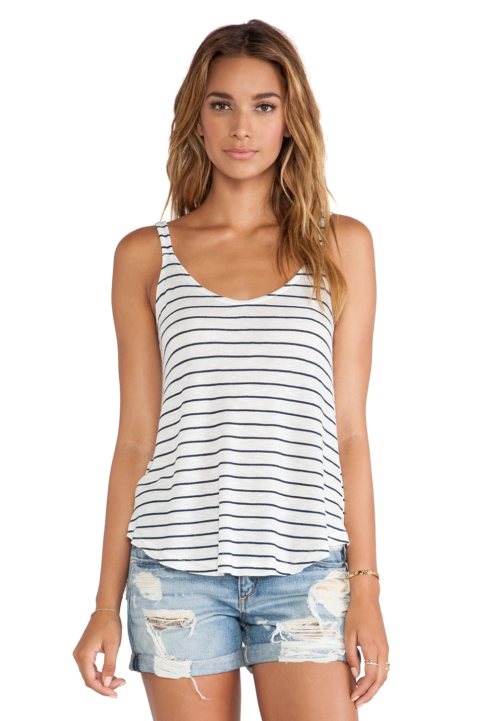 Splendid New Haven Stripe Tank in White