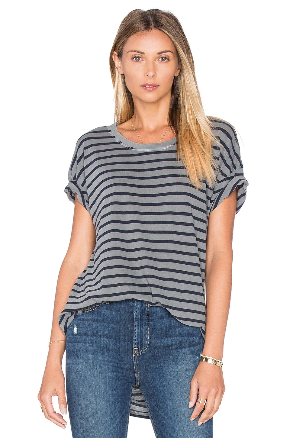 Sequoia Yarn Dye Stripe Tee by Splendid