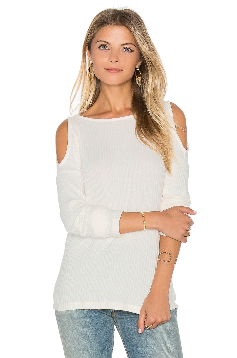 Sylvie Rib Open Shoulder Top by Splendid
