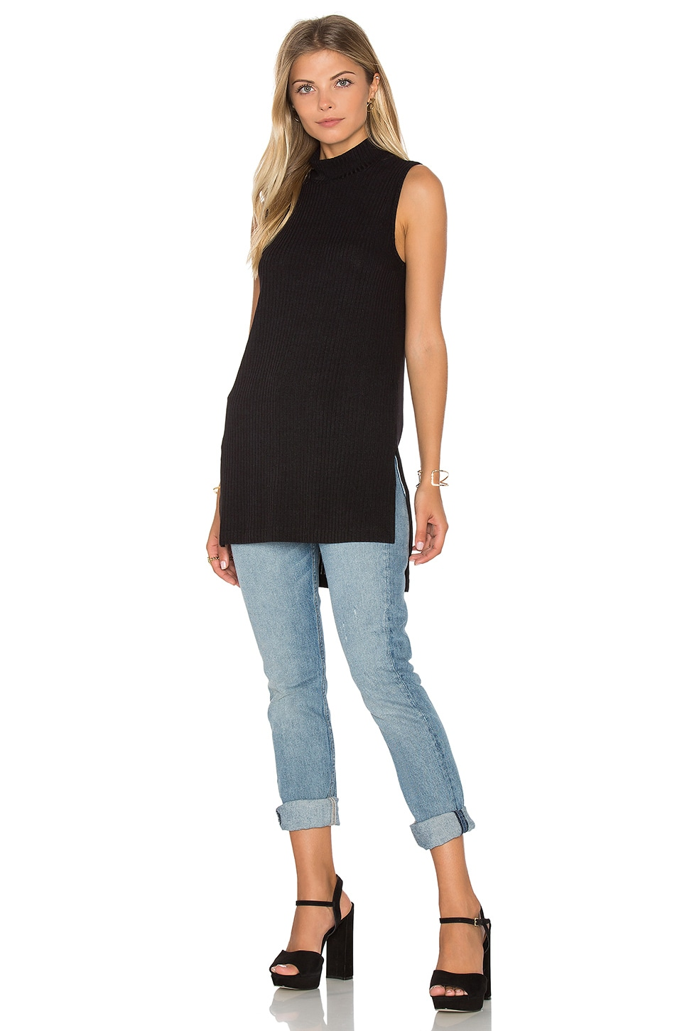 Sylvie Rib Turtleneck Tunic Tank by Splendid