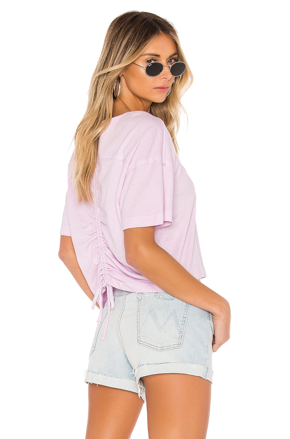 Splendid Casing Detailed Tee in Antique Lilac