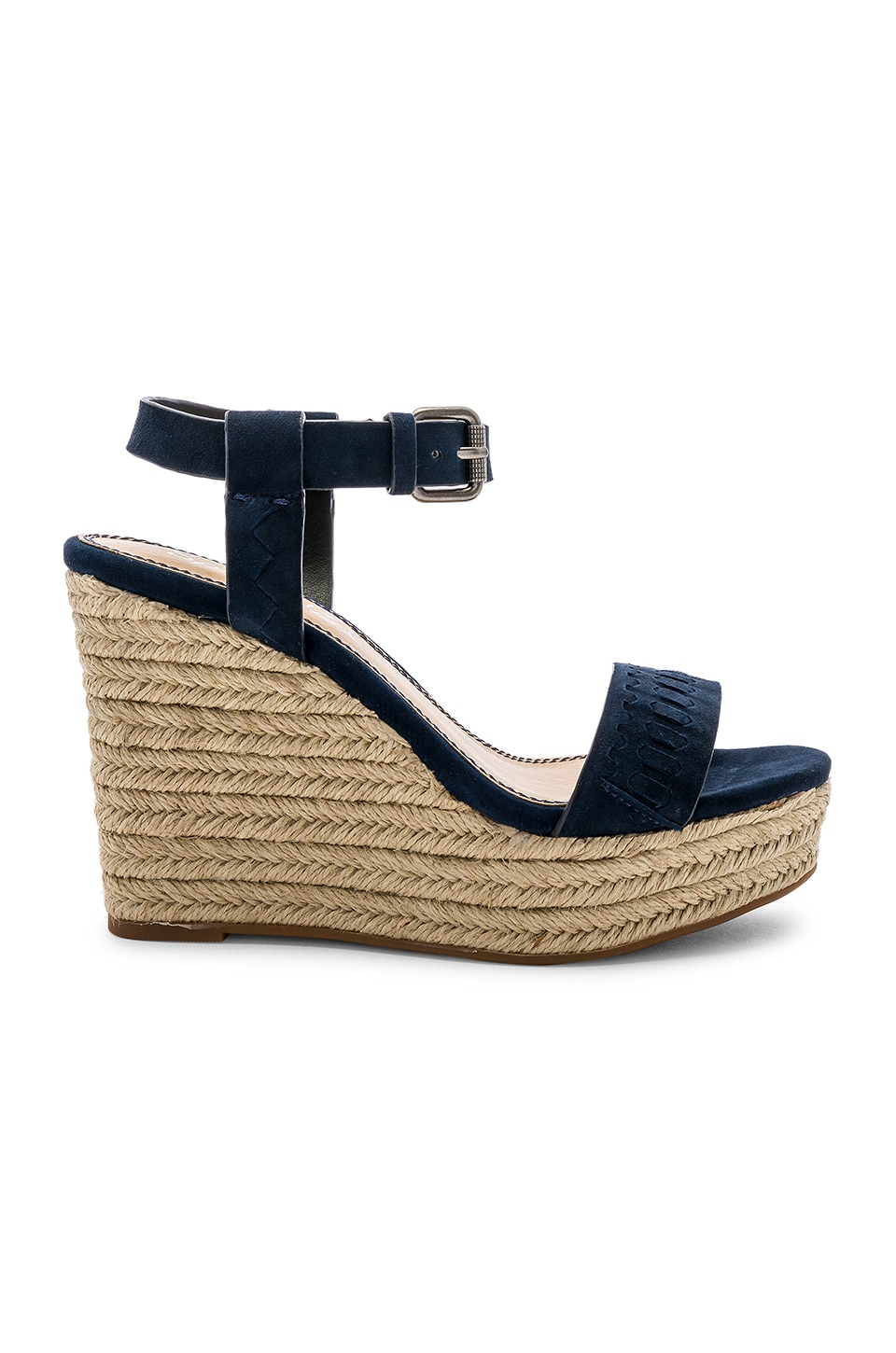 SPLENDID Women'S Shayla Suede Espadrille Wedge Heel Sandals in Navy