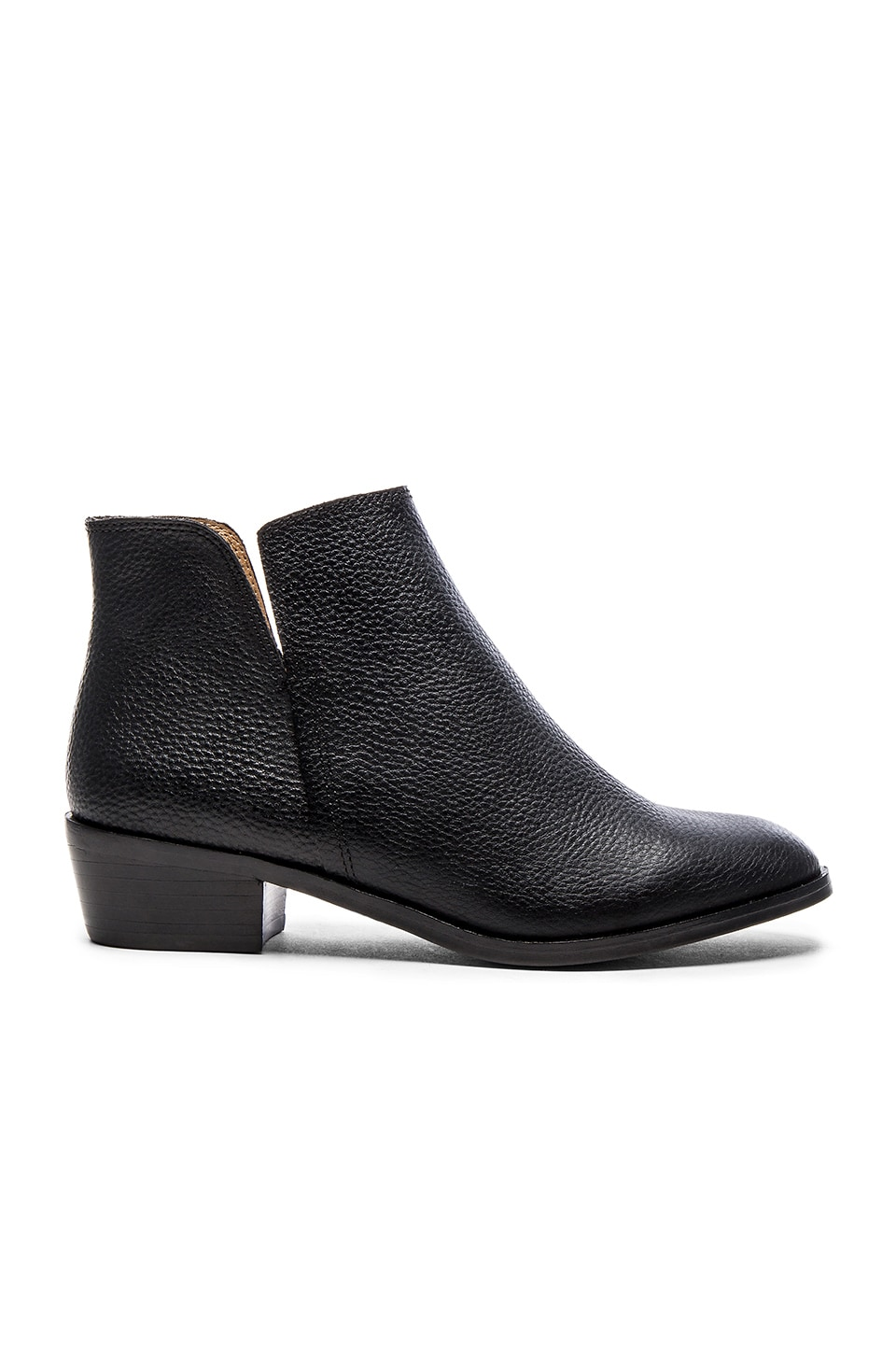 Splendid Hamptyn Bootie in Black Tumbled Leather
