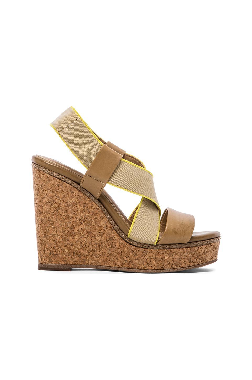 Splendid Kellen Wedge Sandals in Light Tan