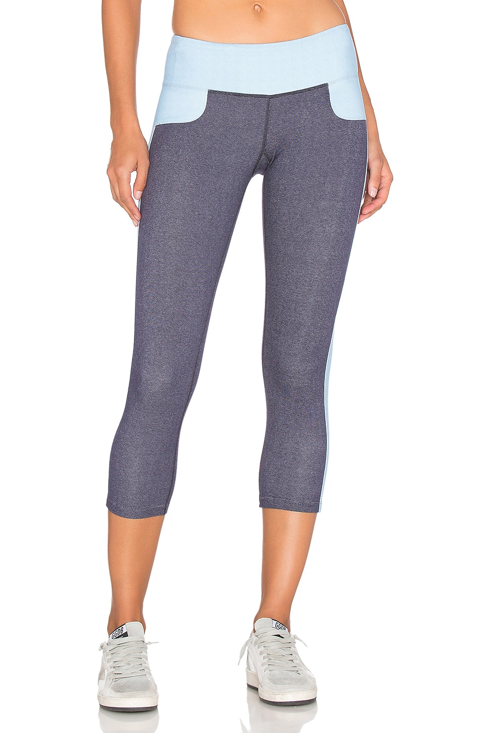 Splits59 Cash Capri in Dark Denim & Light Chambray