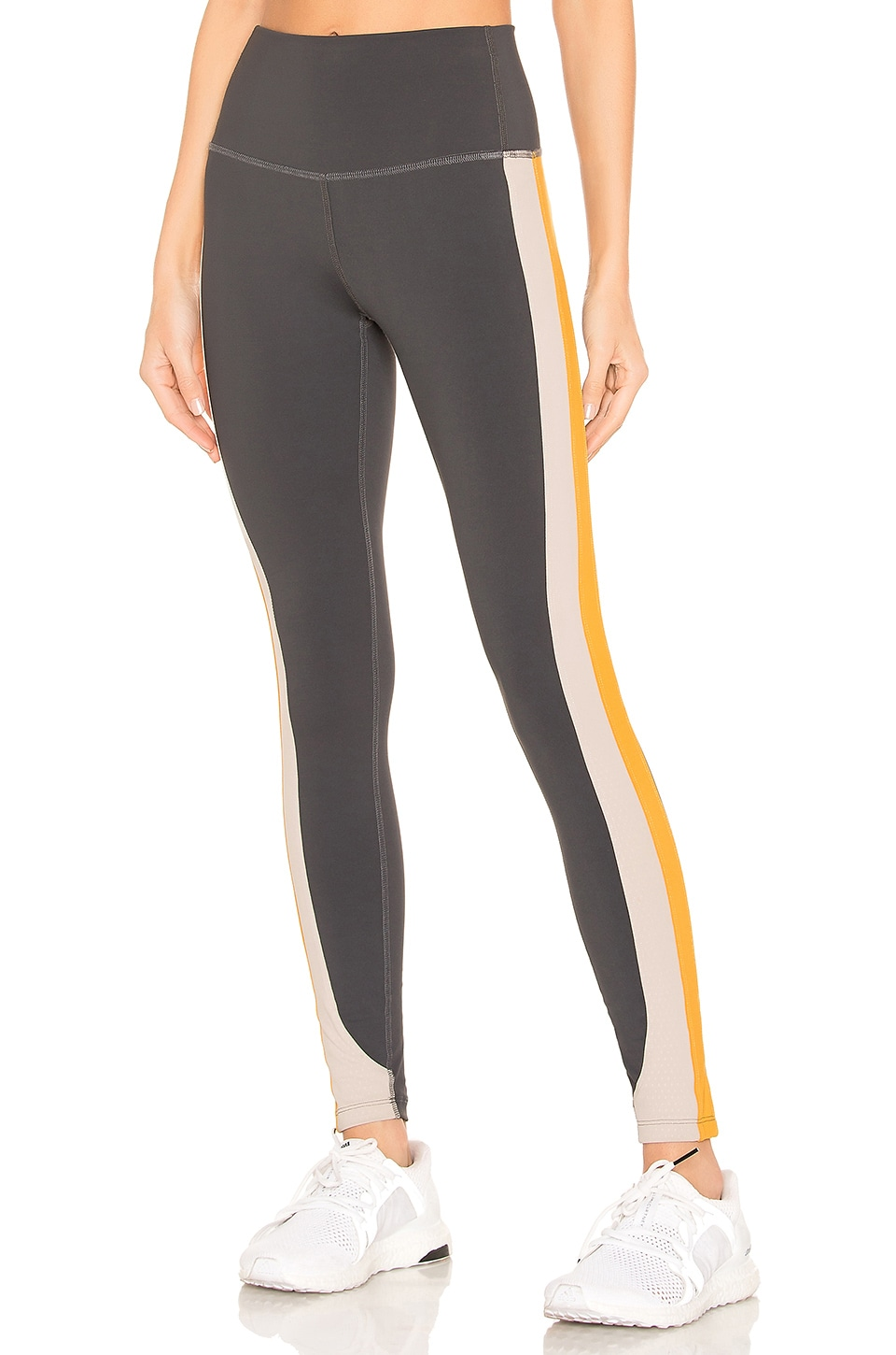 Splits59 Freestyle High Waist Tight in Charcoal, Stone & Orange
