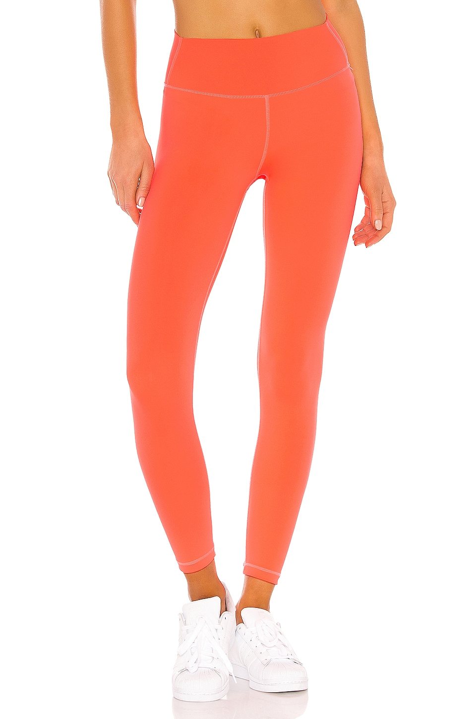 Splits59 Kinney High Waist Tight in Neon Coral