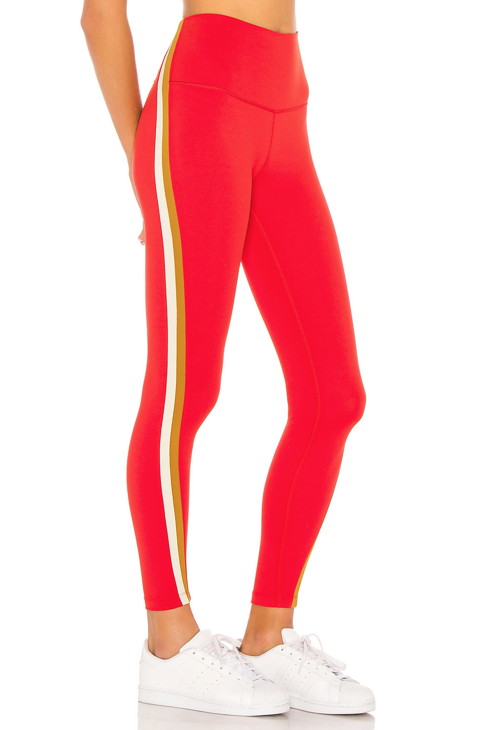 Splits59 Olivia High Waist 7/8 Tight in Red & Copper