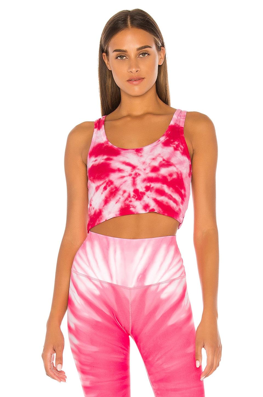 Splits59 Lynne Cropped Tank in Pink Tie Dye