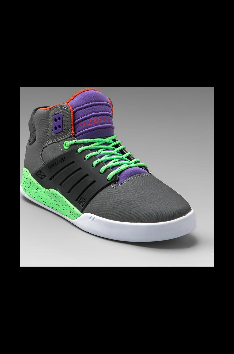 Supra Skytop III in Charcoal/Black/Lime