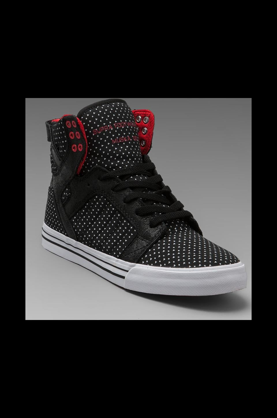 Supra Estate Skytop in Black w/ Polka Dots