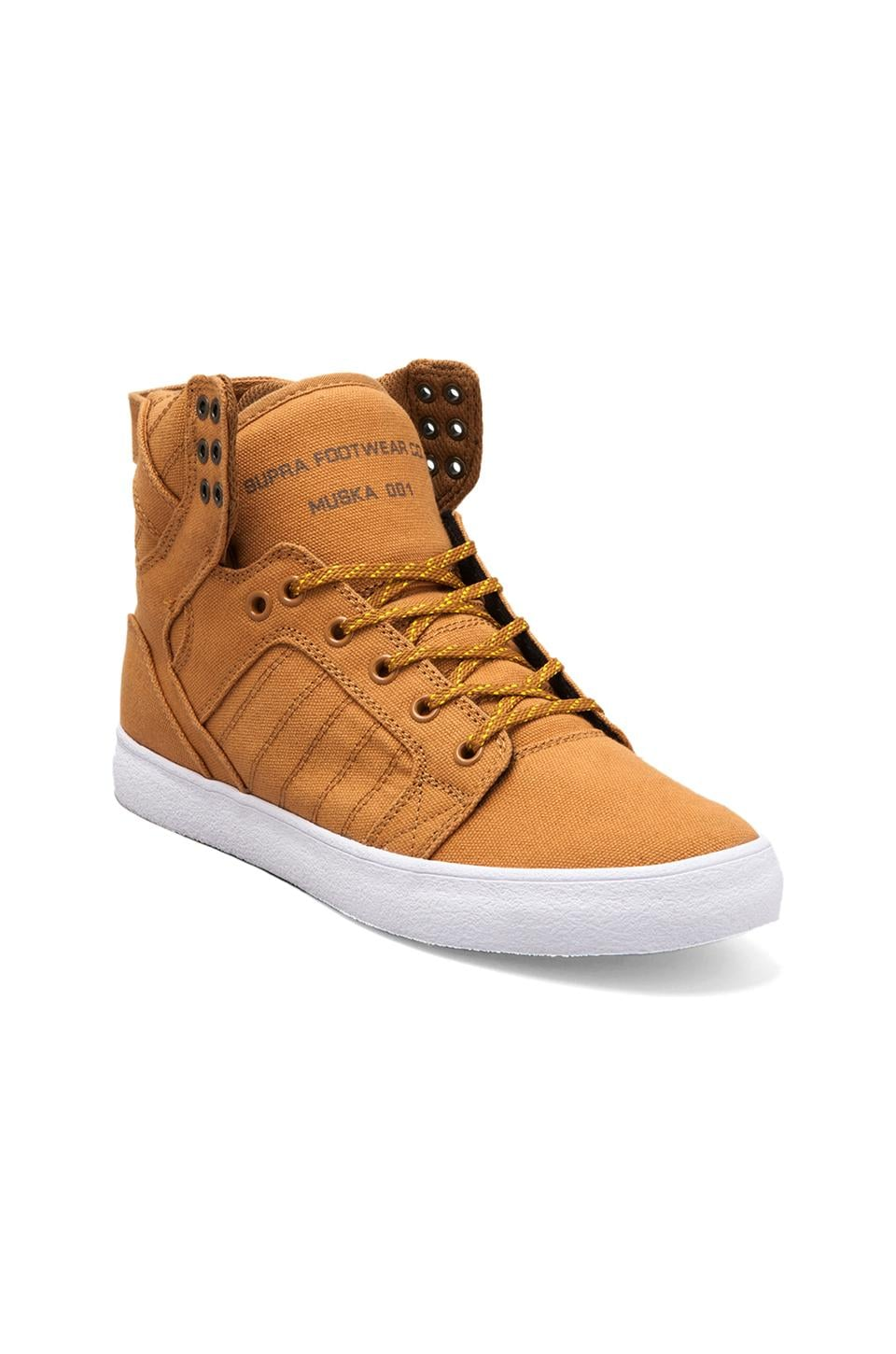 Supra Skytop in Golden Oak/Pumpkin