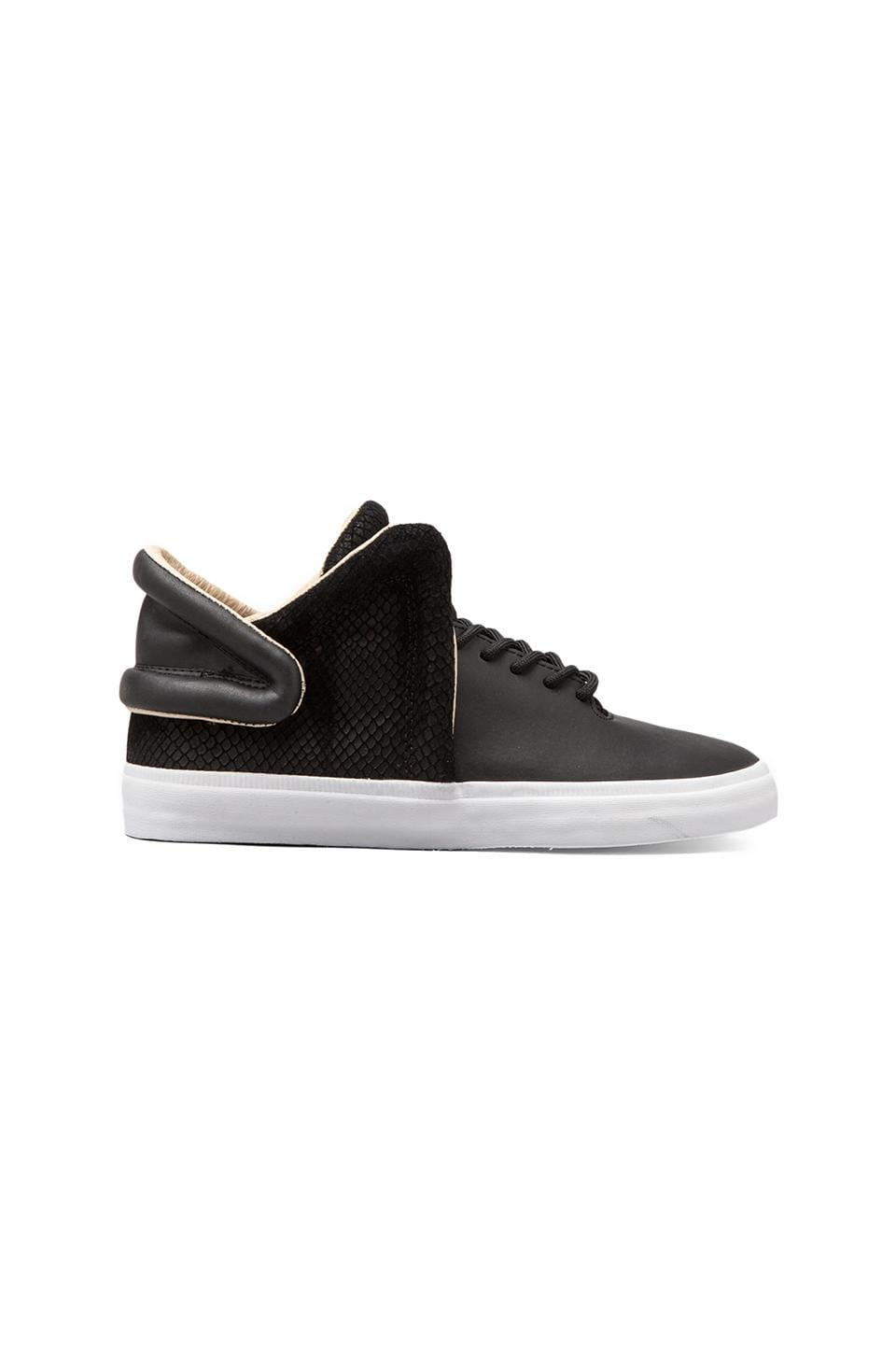 Supra Falcon Leather in Black Snake