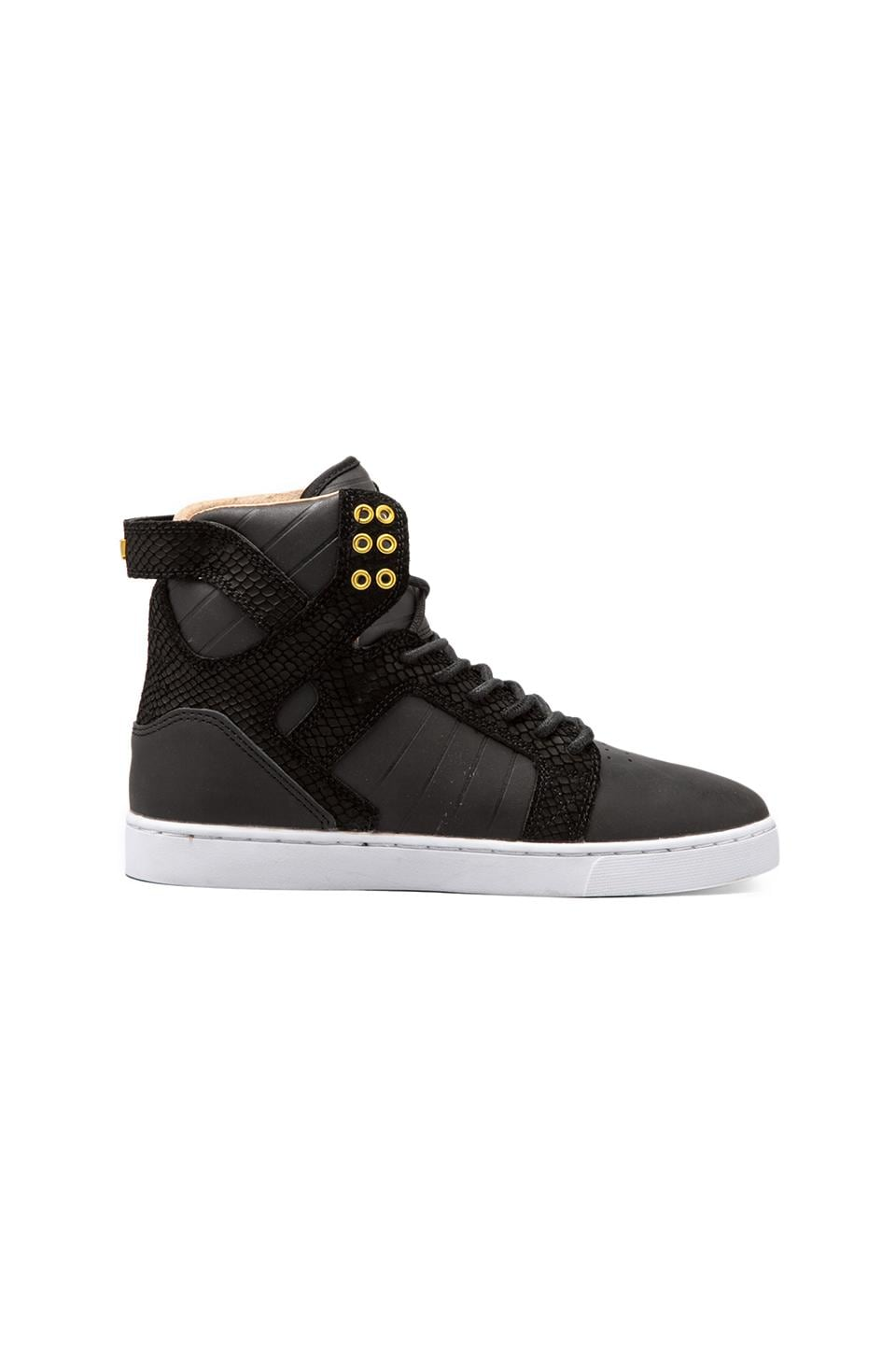 Supra Skytop LX in Black/Gold