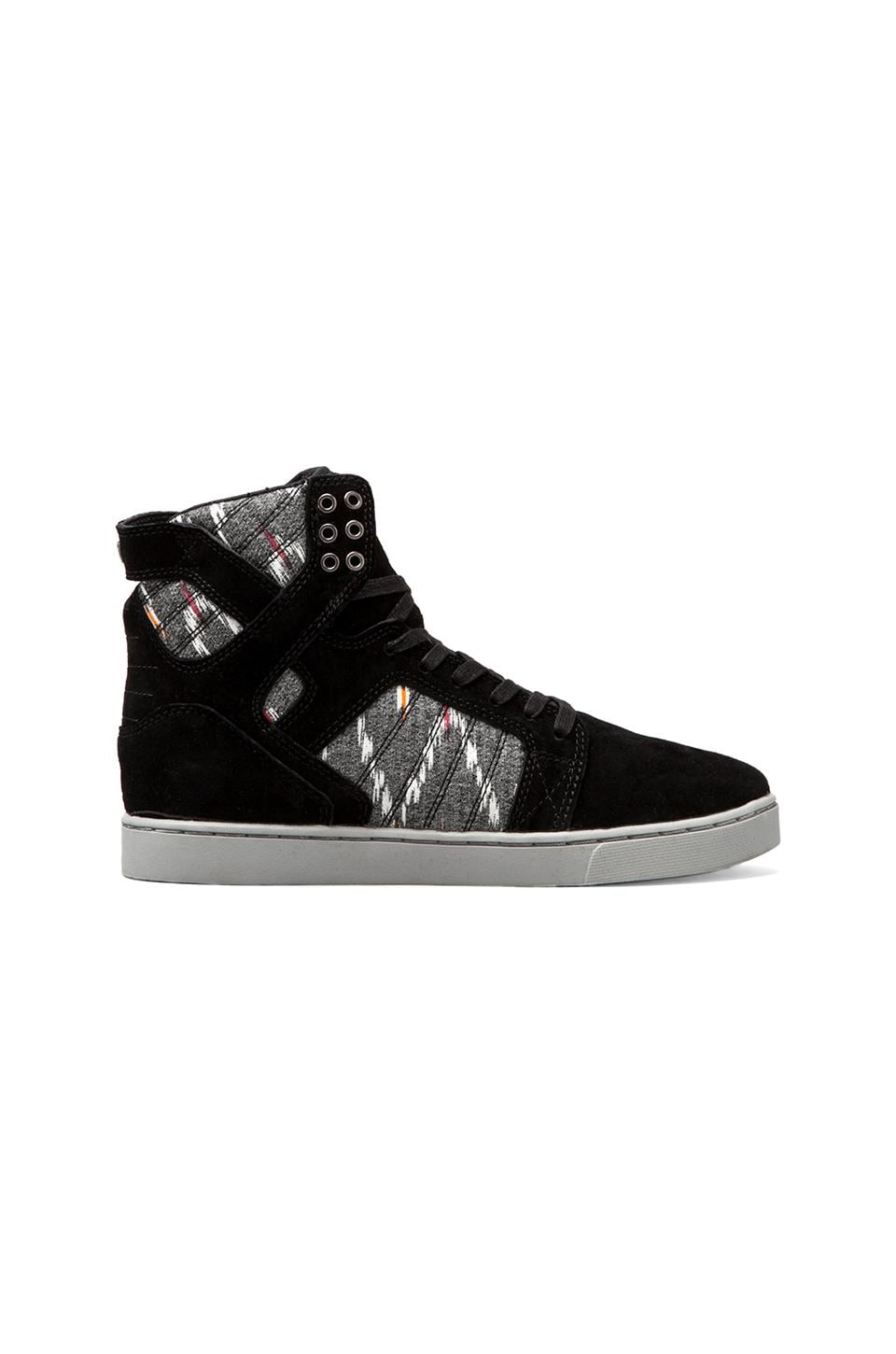 Supra Skytop LX in Black/Grey Print
