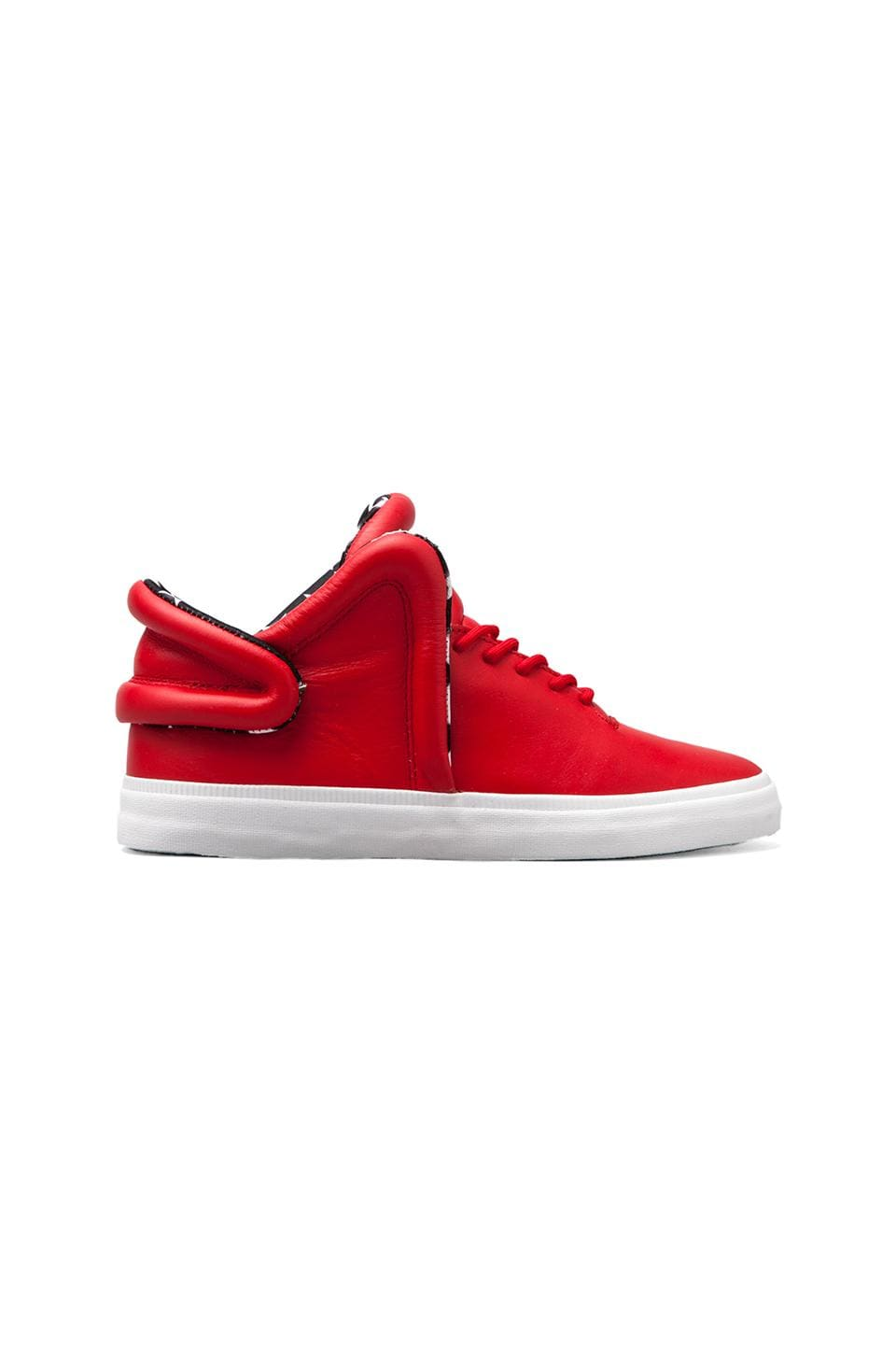 Supra Falcon in Red w/ Star Print