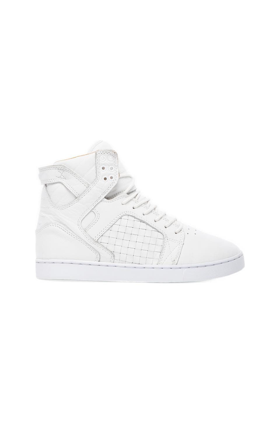 Supra Sktyop LX Woven Leather in White