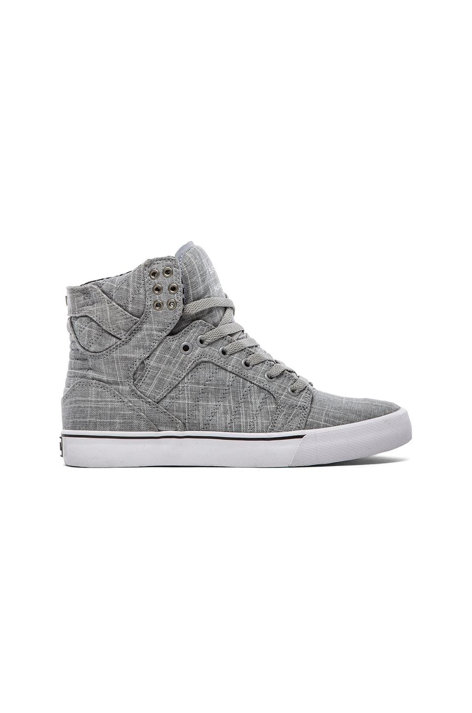 Supra Skytop in Grey & White