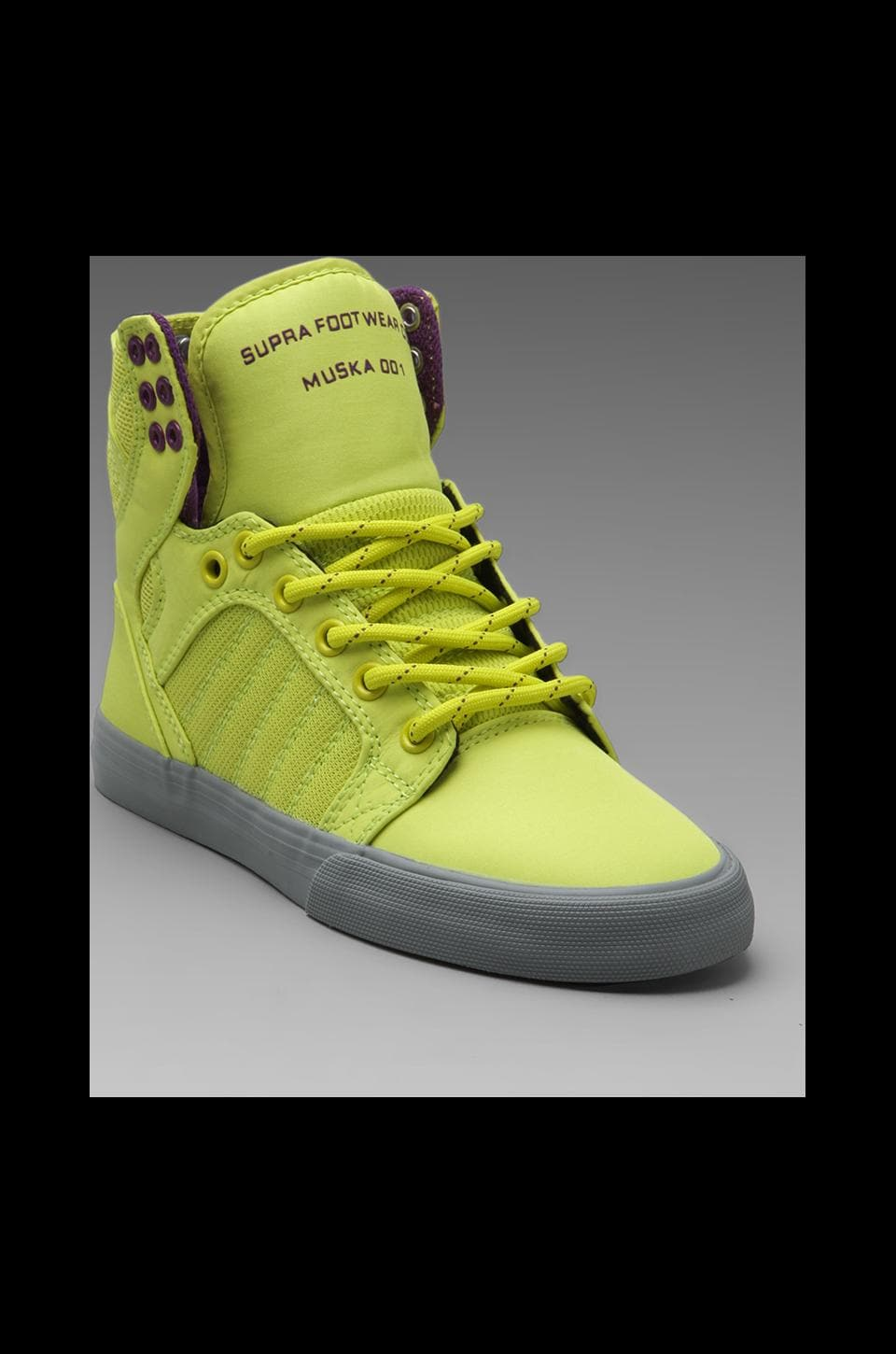 Supra Skytop Sneaker in Yellow