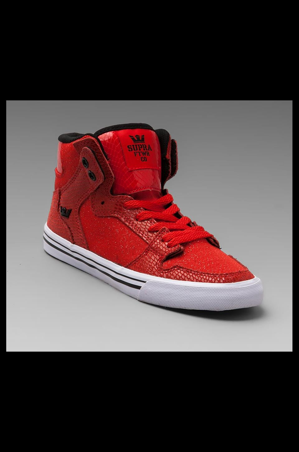 Supra Vaider Sneaker in Red Snake